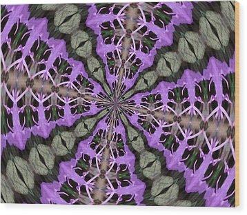 Purple Azaleas Fractal Wood Print by Skyler Tipton