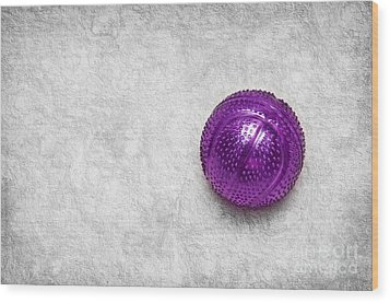 Purple Ball Cat Toy Wood Print by Andee Design