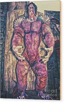 Purple Carnival Monster Wood Print by Gregory Dyer