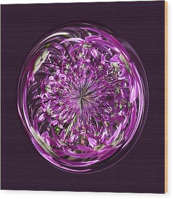 Purple Chaos Wood Print by Robert Gipson