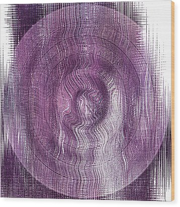 Purple Concentric Circles Wood Print by Bonnie Bruno