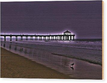 Purple Dawn Wood Print