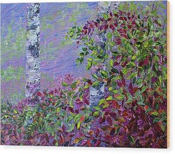 Purple Haze Wood Print by Joanne Smoley