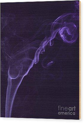 Purple Haze Wood Print by Paul Ward