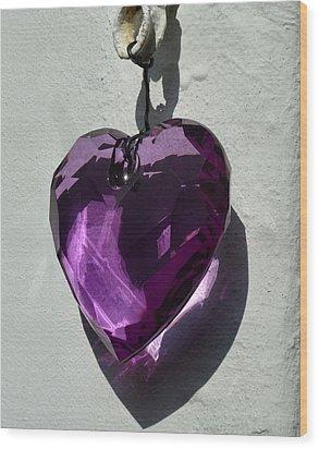 Purple Heart. Wood Print by Debra Collins