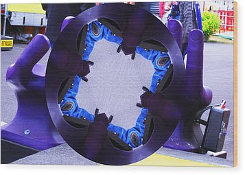 Purple Magic Fingers Chair Wood Print by Kym Backland