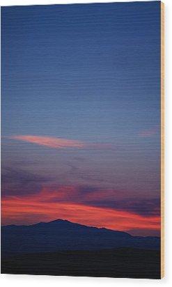 Purple Mountain Wood Print by Kevin Bone