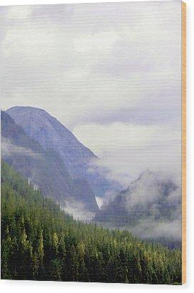 Purple Mountain Majesties Wood Print by Mindy Newman