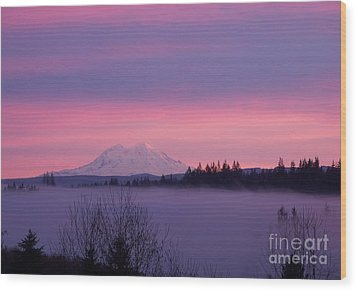 Wood Print featuring the photograph Purple Mountain Majesty by Chalet Roome-Rigdon