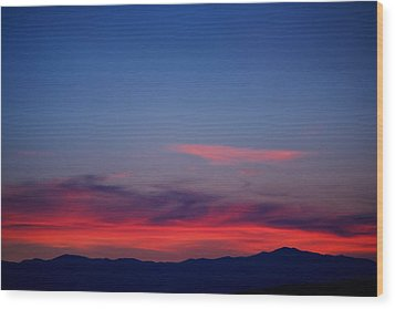 Purple Mountains Wood Print by Kevin Bone