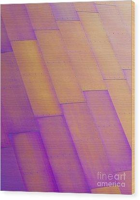 Purple Orange I Wood Print