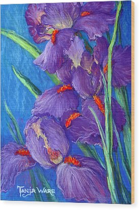 Purple Passion Wood Print by Tanja Ware