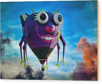 Purple People Eater Wood Print by Bob Orsillo