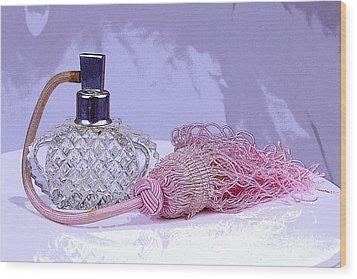 Purple Perfume Wood Print by Serene Maisey