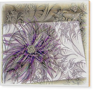Purple Plume Wood Print by Michelle Frizzell-Thompson