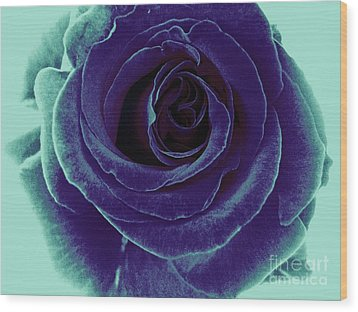 Wood Print featuring the photograph Purple Rose by Jasna Gopic