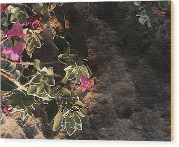 Wood Print featuring the photograph Purple Sage And Desert Rock In Morning Light by Louis Nugent