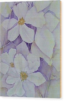 Purple Shades Wood Print