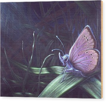 Wood Print featuring the painting Purple by Shawn Kawa