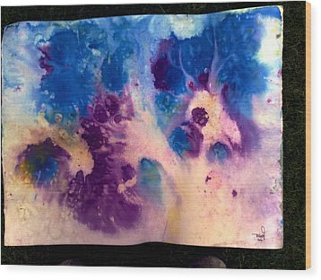 Purple Skies Wood Print by Tis Art