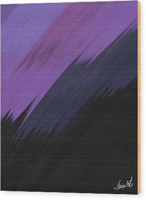 Purple Sunrise Wood Print by Lance  Kelly