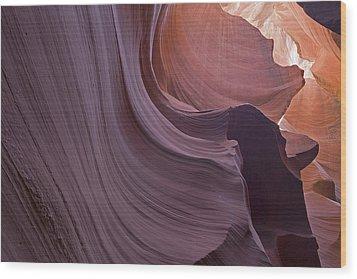 Purple Sweep Wood Print