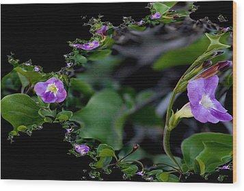 Purple Vitex 2 Wood Print