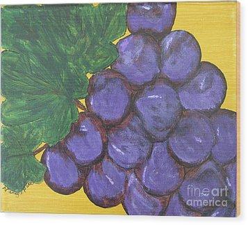 Purplest Purple Wood Print