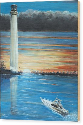 Put-in-bay Perry's Monument - International Peace Memorial  Wood Print by Bernadette Krupa