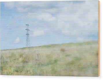 Pylon Wood Print by Jill Ferry