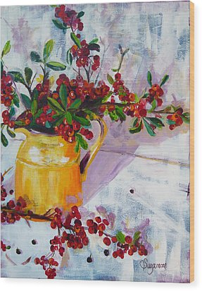 Pyracatha Pitcher Picture Wood Print by Suzanne Willis