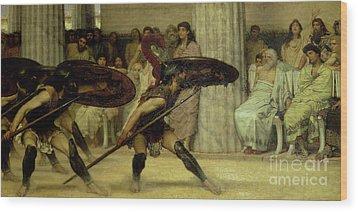 Pyrrhic Dance Wood Print by Sir Lawrence Alma-Tadema