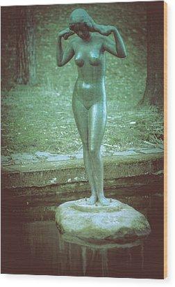 Wood Print featuring the photograph Pyynikki Statue by Matti Ollikainen