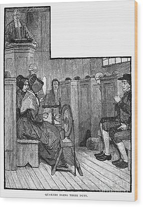 Quaker Meeting Wood Print by Granger