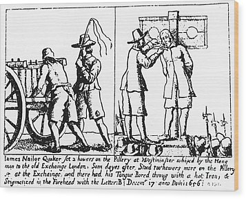 Quaker Persecution Wood Print by Granger