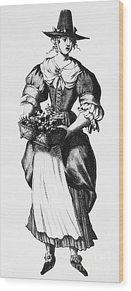 Quaker Woman, 17th Century Wood Print by Granger