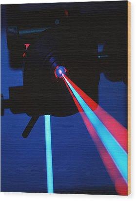 Quantum Entanglement Apparatus Wood Print by Volker Steger