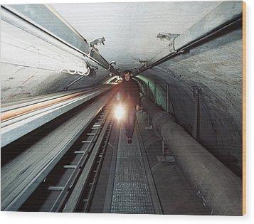 Quantum Entanglement Tunnel Wood Print by Volker Steger