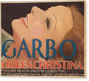 Queen Christina, Greta Garbo, 1933 Wood Print by Everett