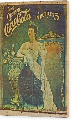 Queen Drinks Coca Coala Wood Print by Cyryn Fyrcyd