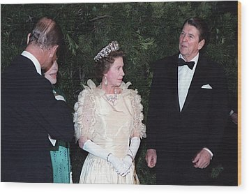 Queen Elizabeth II And Prince Philip Wood Print by Everett