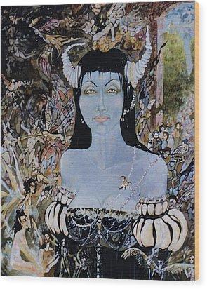 Queen Mab 1 Wood Print by Jackie Rock