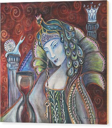 Queen Of Her Own Heart Wood Print by Margaret Eve