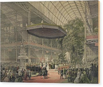 Queen Victoria Presides At The State Wood Print by Everett
