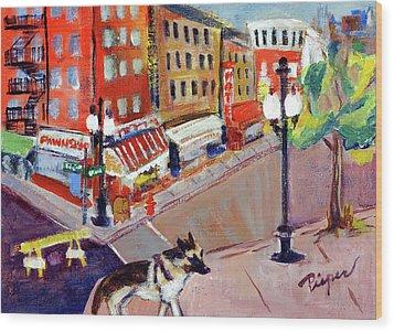 Queenie On Forsythe Street Manhattan Nyc Wood Print by Elzbieta Zemaitis