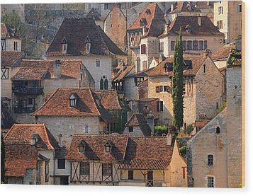 Quercy Wood Print by Copyrights by Sigfrid López