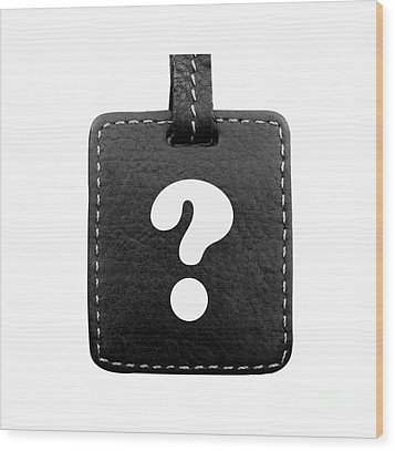 Question Mark Wood Print by Blink Images