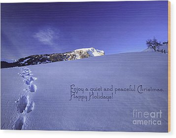 Quiet And Peaceful Christmas Wood Print by Sabine Jacobs