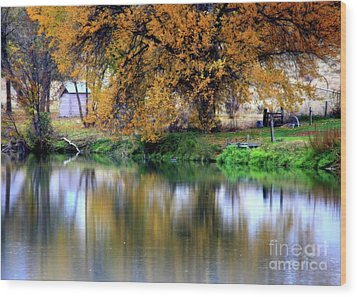 Quiet Autumn Day Wood Print by Carol Groenen