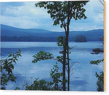 Quiet Lake Wood Print by Sarah Buechler